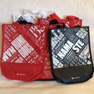 5 lululemon reusable bags